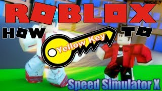 Roblox Speed Simulator X | How to get the Yellow Key