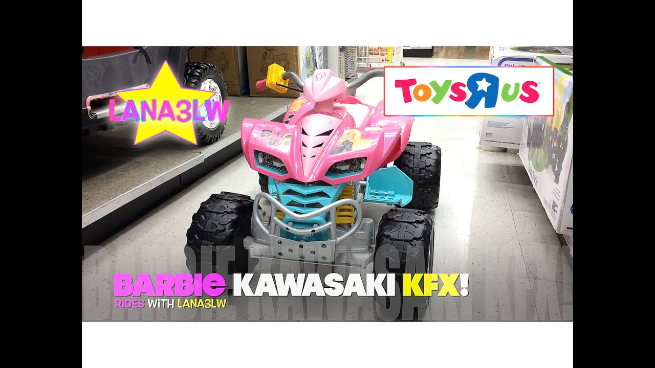 Barbie Electric Car: Best Popular Barbie Kawasaki KFX Kids Electric Ride On Car