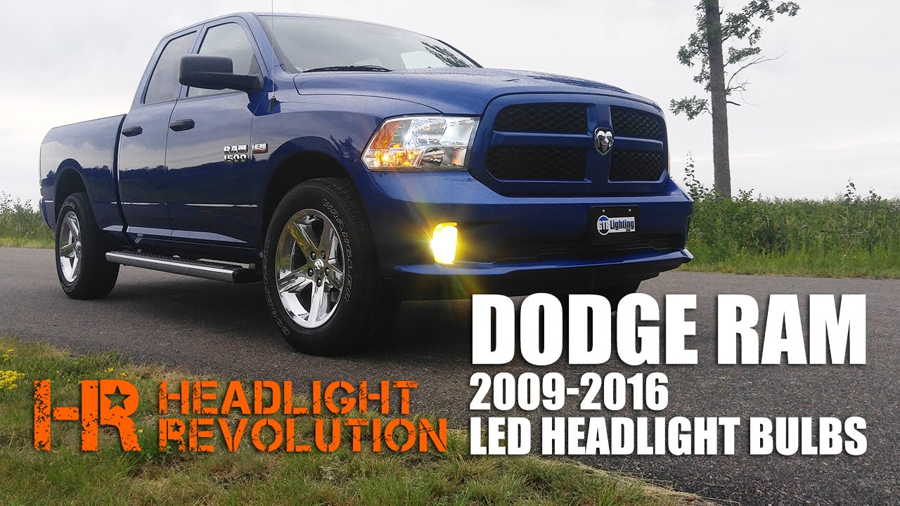 led headlight bulb upgrade kit for 2009 2016 dodge ram with reflector headlights youtube [ 1280 x 720 Pixel ]