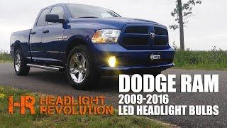 led headlight bulb upgrade kit for 2009 2016 dodge ram with reflector headlights