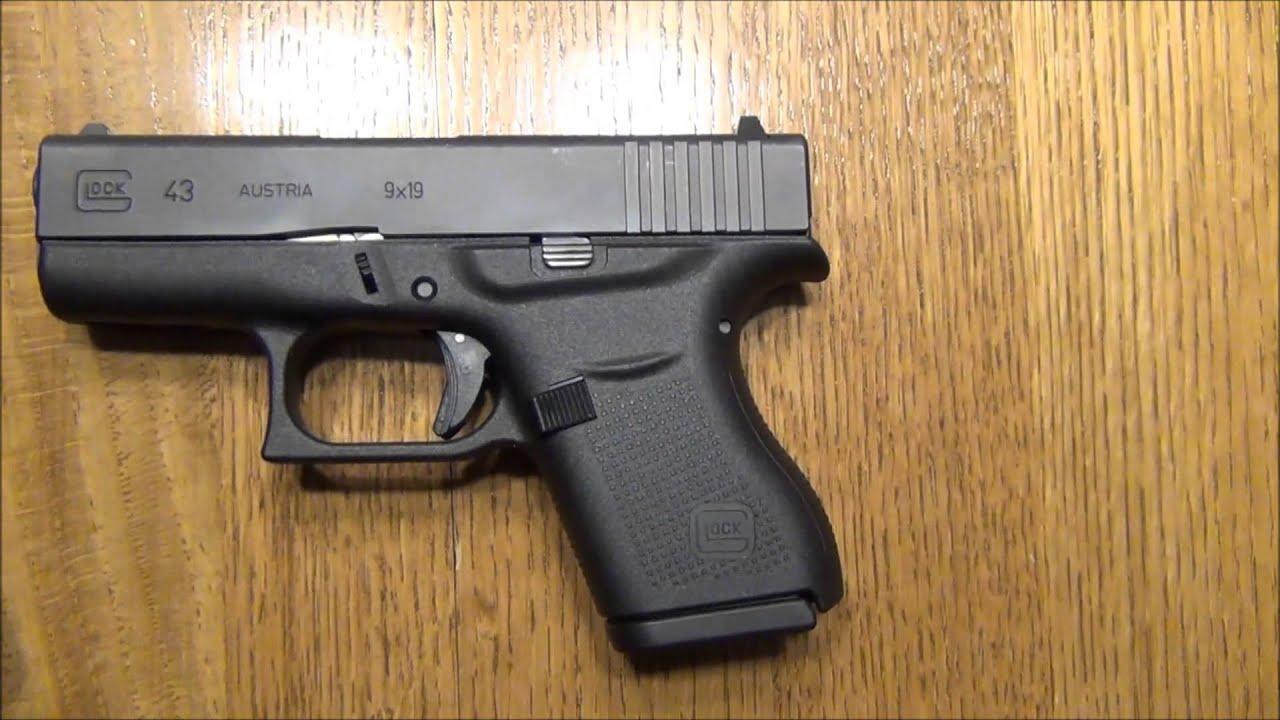 Glock 43 vs 19 Size Comparison - YouTube