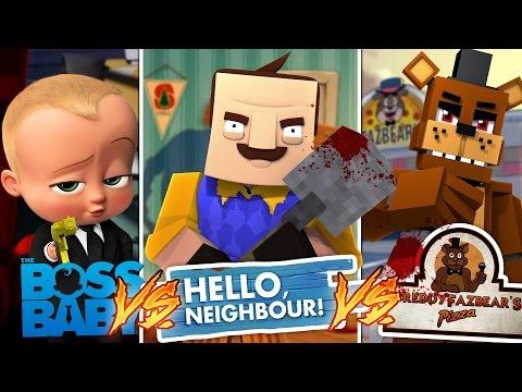 Minecraft HELLO NEIGHBOR V's THE BOSS BABY - LITTLE DONNY IS THE EVIL NEIGHBOR!!
