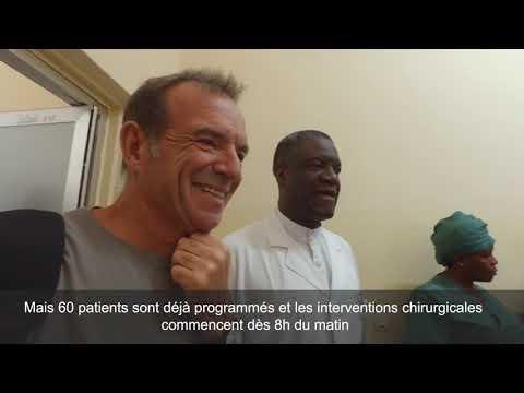 Retrouvailles entre le Pr Mukwege et le Pr Cadière à Panzi, après le Prix Nobel de la Paix 2018