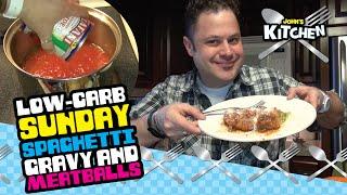 John's Kitchen - Sunday Spaghetti Gravy Sauce - Low Carb W/ Meatballs & Italian Sausage