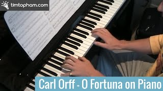 O Fortuna Carl Orff Piano Solo Tutorial