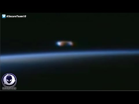 HUGE Cigar UFO Appears Live Over Earth Near Space Station! 4/9/16