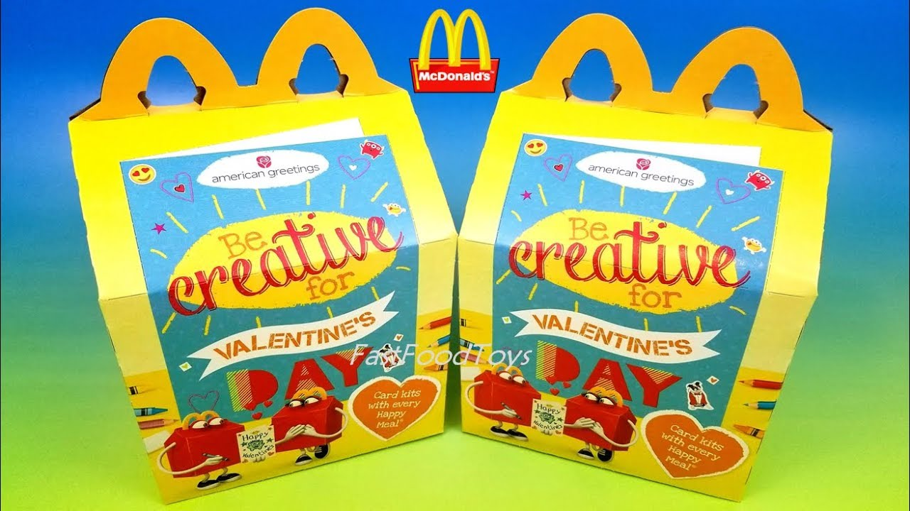 2018 Mcdonalds American Greetings Happy Meal Toys Valentines Day