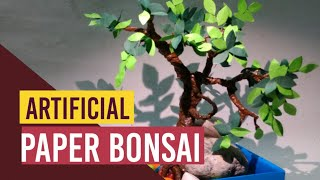 ARTIFICIAL PAPER BONSAI Tree (Without Using Wire & Clay)| How To Make A Tree With Paper| CRAFTSWOMAN