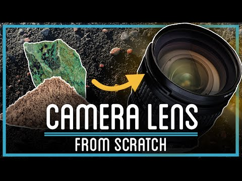 Popular YouTube channel creates camera lens from scratch using sand and rocks