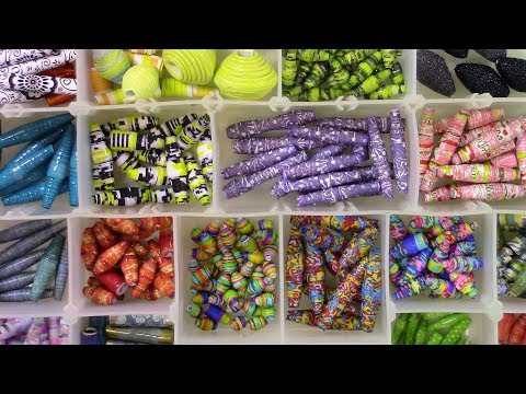 #LoveSummerArtReboot - DIY: colorful paper beads using paper napkins