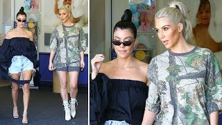 Kim Kardashian Goes On A Shopping Spree For Baby No. 3 With Kourtney