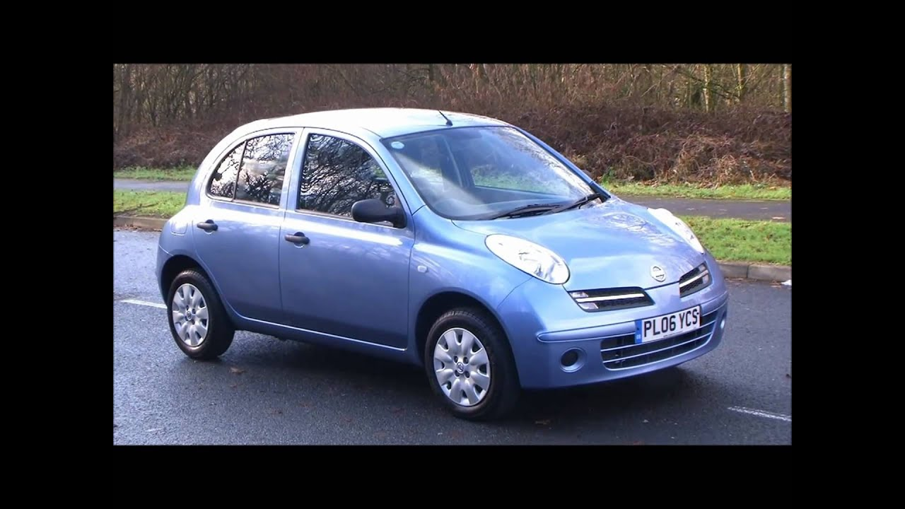 06 06 nissan micra 1 2 initia 5 door youtube. Black Bedroom Furniture Sets. Home Design Ideas
