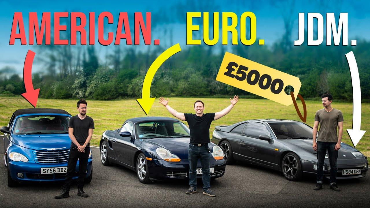 £5000 American Vs Euro Vs JDM Sports Car Challenge