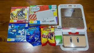 New Nintendo 3DS & Pokemon ORAS Haul (Wood Cover Plate) Unboxing