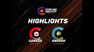 Canada v Sweden - Mixed Doubles - Highlights - Curling World Cup First Leg – Suzhou