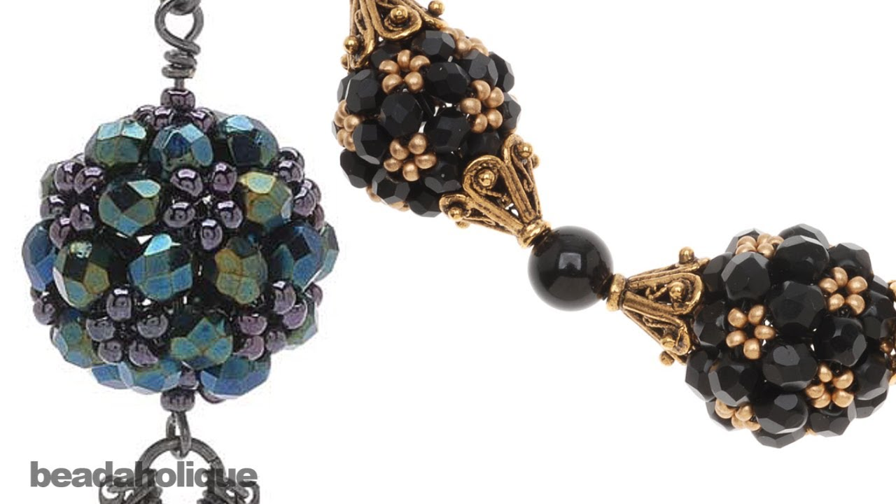 how to make an ornate beaded bead using right angle weave