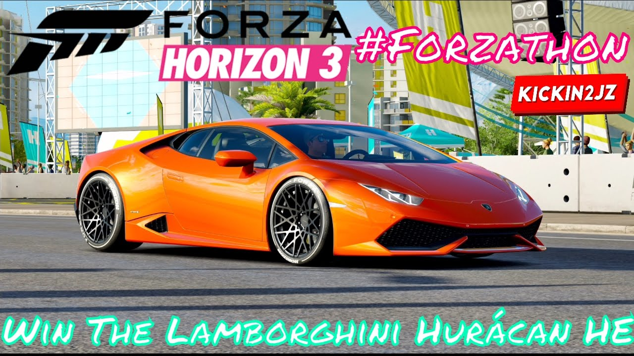 #Forzathon   Win The Lamborghini Huracan HE Just A Little Recreation  Challenges Forza Horizon 3
