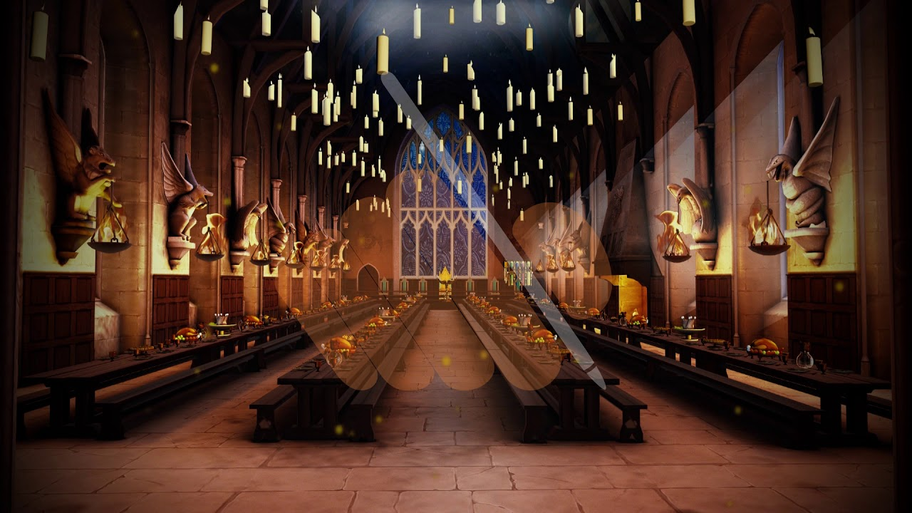 Salao Comunal Great Hall Harry Potter Background Handesigner