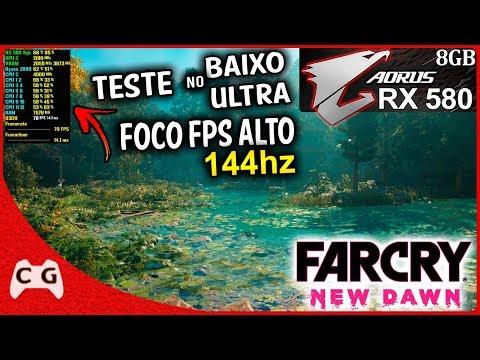 Far Cry New Dawn Teste RX 580 8gb + Ryzen 5 2600 OC 4.0Ghz | 16gb De RAM | No Ultra 1080p #10