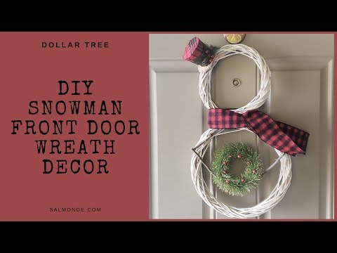 DIY Dollar Tree Snowman Wreath ~ Quick And Easy Christmas Craft