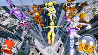 ANIMATRONICS FALL 9999 FEET OFF SKYSCRAPERS! (GTA 5 Mods For Kids FNAF RedHatter)