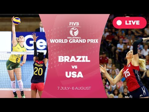 Brazil v USA - Group 1: 2017 FIVB Volleyball World Grand Prix