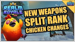 Realm Royale - New Hitscan Weapons, Split Rank, Chicken Changes, Class Nerfs & Buffs Test Server