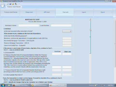 Forensic mortgage audit software demonstration youtube for Forensic audit of mortgage loan documents