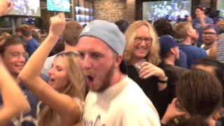 Kansas City Royals fans celebrate the World Series victory in Westport