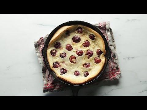 how-to-make-cherry-clafoutis-•-tasty