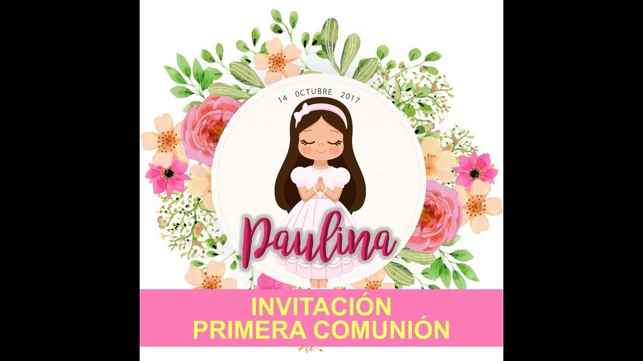 Invitacion Primera Comunion Virtual Youtube
