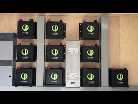 Off grid with Simpliphi lithium Iron Batteries