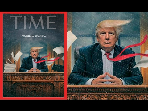 Time Cover Story 'White House Chaos' Trump says 'Running Smoothly' who is right?