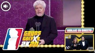 Doblaje alternativo de PEDRO ALMODOVAR en Los Goya 2020 de Grison y Caravaca | GAYOS GOLFXS
