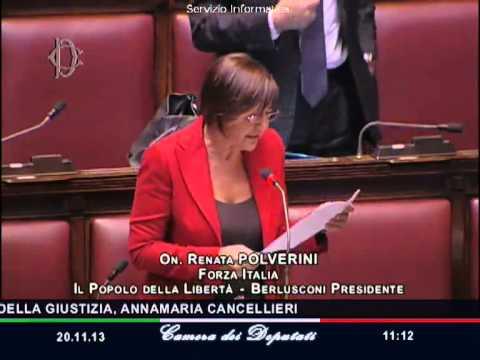 Polverini forza italia su ministro cancellieri continui cos video camera dei deputati for Deputati forza italia