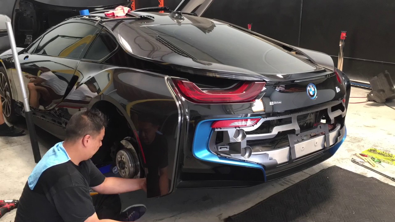 Bmw I8 Rear Bumper And Quarter Panel Removal Side Mirror Removal