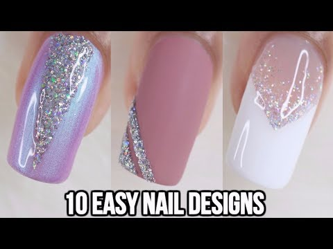 10 EASY GLITTER NAIL IDEAS! NAIL ART COMPILATION