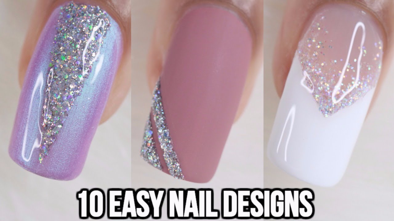 Nail Art Ideas Using Glitter
