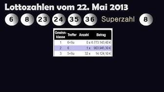 Lottozahlen und Quoten vom 22.05.2013 • Mittwochslotto