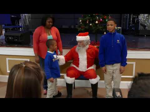 Holiday party for Children's Home Society