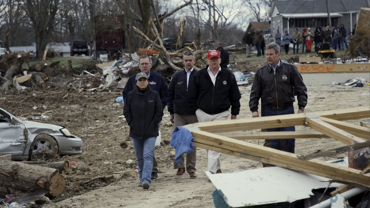 President Trump Surveys Tornado Damage and Relief Efforts in Tennessee