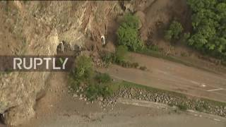 New Zealand: Helicopter footage shows quake damage along Kaikoura coastline