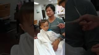 初めての散髪!