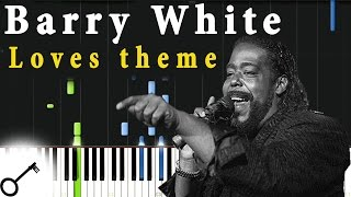 Barry White - Loves theme [Piano Tutorial] Synthesia | passkeypiano