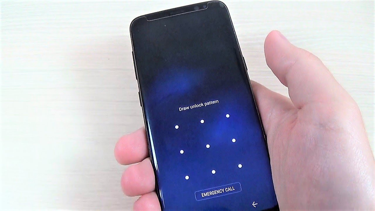 REMOVE PATTERN, PIN PASSWORD on Samsung Galaxy S8, S8+ and NOTE 8
