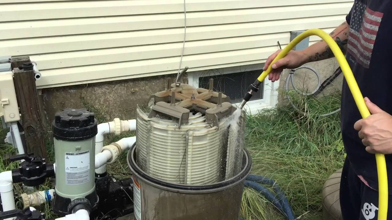 Hayward De 4820 Pool Filter Grid Cleaning Youtube