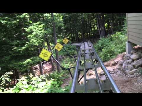 Mountain coaster at Attitash Mountain New Hampshire