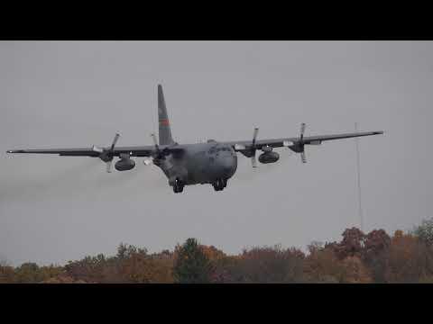 Peoria Air National Guard C-130 landing Decatur IL airport