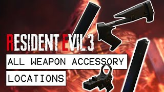 Resident Evil 3 Remake All Weapon Accessory Locations