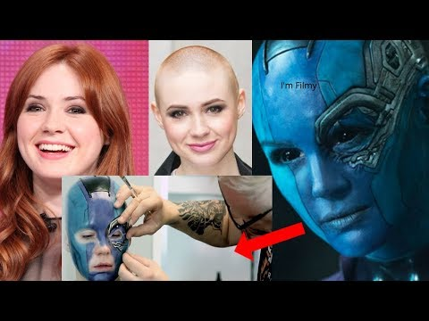 Karen Gillan Transformation to Nebula  Guardians of the Galaxy Vol.2 Behind the s  2017